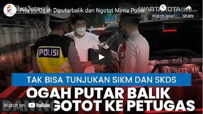 VIDEO Pria Ini Ngotot Ogah Diputar Balik di Pintu Tol Bekasi Barat, Ngaku Rumahnya di Tambun Selatan