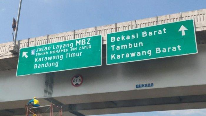 Penggantian nama Jalan Tol Layang Jakarta-Cikampek II (Elevated) menjadi Tol Layang Sheikh Mohammed Bin Zayed.