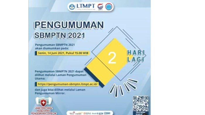 Berikut Daftar Link Laman Pengumunan SBMPTN14 Juni 2021, Lengkap Jurusan Favorit UNAIR, ITS dan UPN