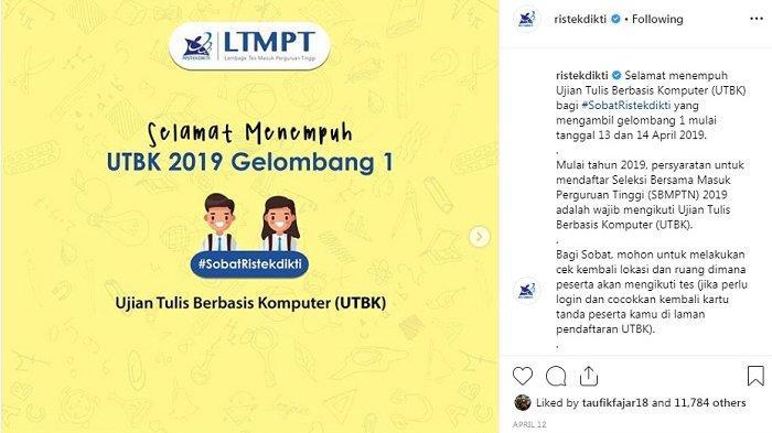 Ini Link Pengumungan UTBK SBMPTN Gelombang 1 Sesi 13 April 2019