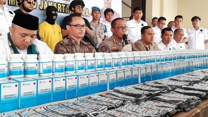 2 Juta Obat Ilegal yang Disita Polres Metro Jakarta Utara Sudah Dicabut Izinnya oleh BPOM Sejak 2016