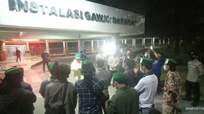 Pengunjuk Rasa Digiring Polisi ke Kuburan Covid-19 TPU Buniayu dan RSUD Balaraja