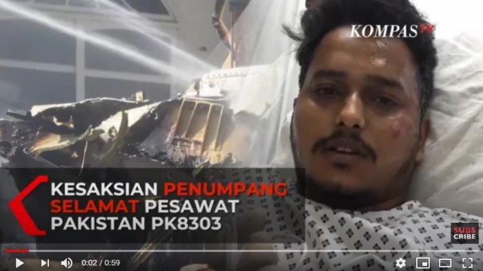Kisah Penumpang Selamat Pakistan Airlines, Buka Sabuk Pengaman, Loncat dari Ketinggian 3 Mater