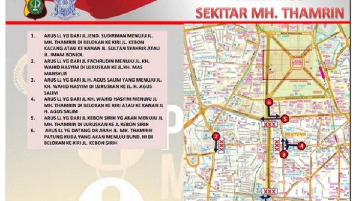 Ruas Jalan MH Thamrin Ditutup Sabtu Pagi sampai Sore, Ini Jalan Alternatifnya