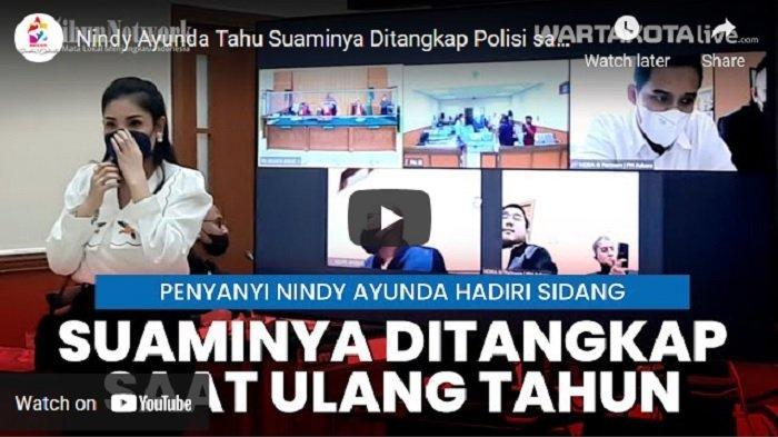 VIDEO Nindy Ayunda Tahu Suaminya Ditangkap Polisi saat Ulang Tahun Ke-32