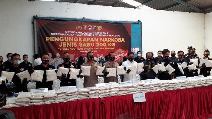 Jaringan Narkoba Internasional Selundupkan Sabu 200 Kilogram dari Myanmar Lewat Rute Laut