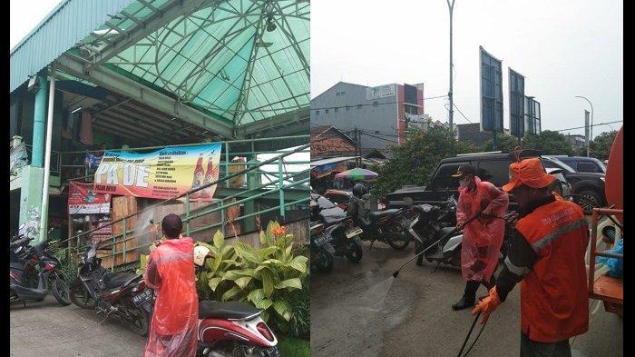 Pasar Anyar Hingga Stasiun KA Tangerang Disemprot Cairan Disinfektan Cegah Wabah Virus Corona