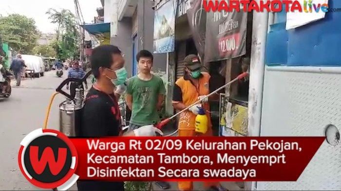 VIDEO: Warga Pekojan, Tambora Menyemprot Disinfektan Secara Swadaya