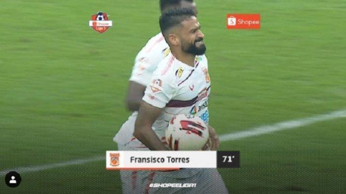 Update Pertandingan Persija Jakarta Vs Borneo FC 2-1, Francisco Torres Perkecil Ketertingalan