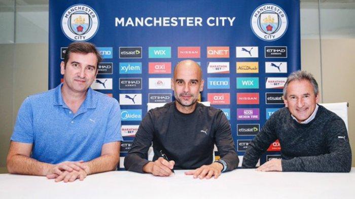 Pep Guardiola Pelatih Manchester City Memperpanjang Kontraknya Hingga Tahun 2023