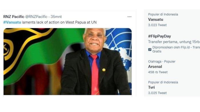 Kembali Recoki Indonesia di Sidang Umum PBB, Netizen Kecam PM Vanuatu Bob Loughman Weibur