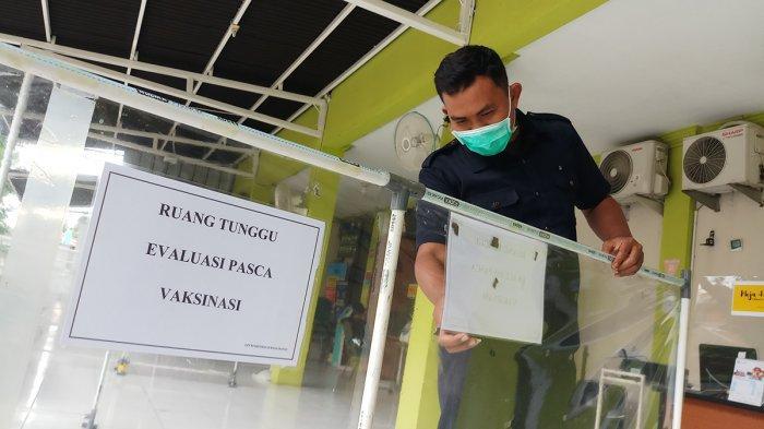 FOTO : Puskesmas Jurangmangu Siapkan Tempat Penyuntikan Vaksin Covid-19