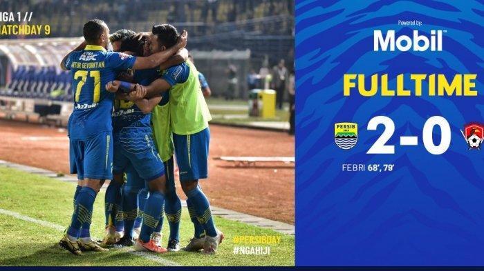 Kalahkan Kalteng 2-0 Berkat Gol Febri Haryadi, Persib Hijrah ke Papan Tengah Klasemen