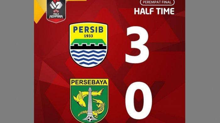 Babak Pertama Persib Bandung 3-0 Persebaya Surabaya: Maung Bandung Tampil Superior di Maguwoharjo