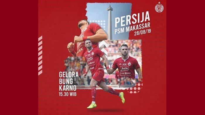 Ini Harga Tiket Pertandingan Persija Jakarta Vs PSM Makassar di SUGBK, Paling Mahal Rp 500.000