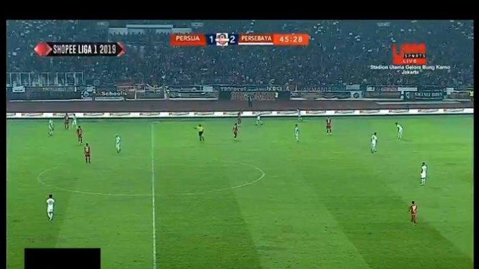 Live Streaming Persija vs Persebaya, Babak 1 Tuan Rumah Tertinggal 1-2