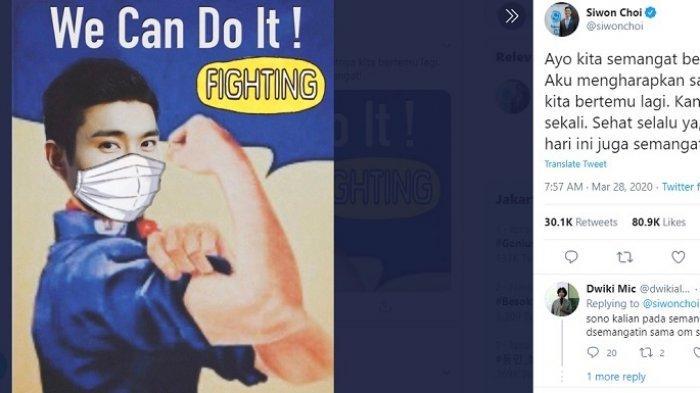 Di Tengah Wabah Corona, Indonesia Dapat Dukungan Semangat dari Personil Super Junior
