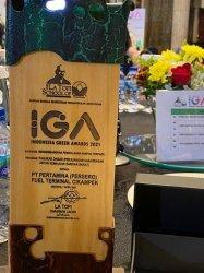 PT Pertamina (Persero) melalui Fuel Terminal Cikampek berhasil meraih Indonesia Green Awards (IGA) 2021 untuk Kategori Mengembangkan Pengolahan Sampah Terpadu lewat Program Pasukan Dabar (Perjuangan Sasarengan Untuk Kemajuan Dawuan Barat) di Desa Dawuan Barat, Kecamatan Cikampek, Kabupaten Karawang.