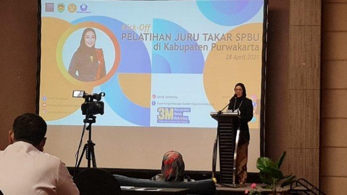 Dalam sambutannya, Bupati Purwakarta, Anne Ratna Mustika menyampaikan apresiasi kepada Pertamina dan Hiswana Migas DPC Karawang atas pelaksanaan kegiatan Pelatihan Juru Takar ini.