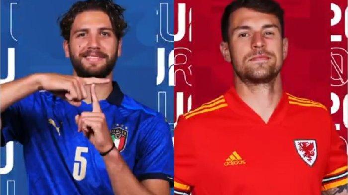 Pertandingan Italia vs Wales di laga ketiga babak penyisihan Grup A Piala Eropa 2020 akan digelar di Stadion Stadio Olimpico, Roma, Minggu (20/6/2021) malam ini.