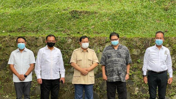 Pertemuan Airlangga Hartarto dengan Prabowo Subianto, Bahas Program Jokowi Hingga Vaksinasi Covid-19