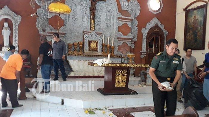 Kronologi Pria Rusak Altar Gereja di Bali, Awalnya Beribadah Lalu Mengamuk, Istrinya Ikut Dibanting