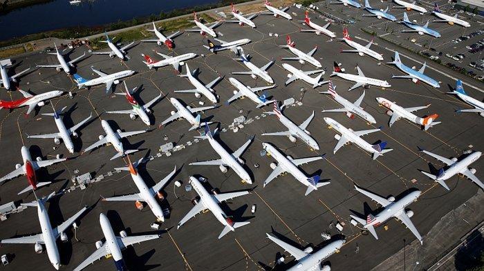 Ribuan Pesawat Jet Penumpang Diparkir Entah Sampai Kapan