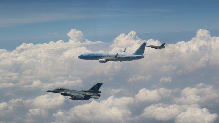 Di Akhir Masa Jabatan, Pesawat Jusuf Kalla Diikuti Dua Pesawat Tempur, Begini Ceritanya
