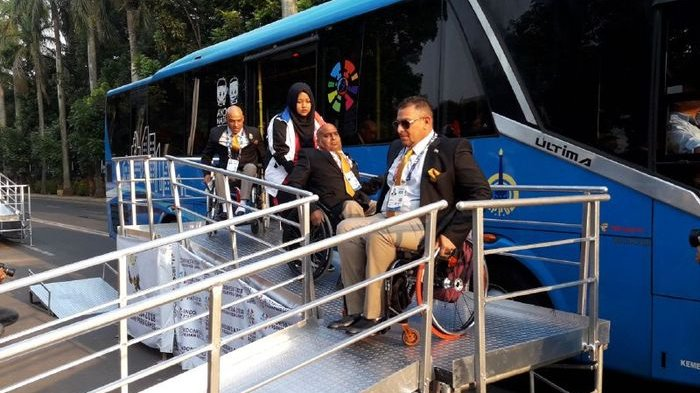 Peserta Asian Para Games 2018 Mulai Berdatangan ke Stadion Gelora Bung Karno Senayan