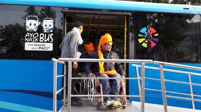 Ojek disabilitas Mempermudah Disabilitas Menyaksikan Pembukaan Asian Para Games 2018