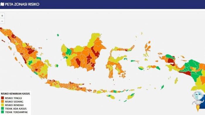 DAFTAR Zona Merah Covid-19 di Indonesia: Sempat Turun ke Angka 41, Kini Melonjak Lagi Jadi 58