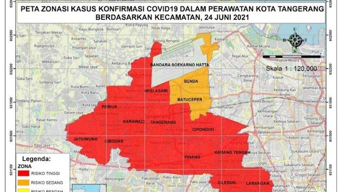 Tangerang Raya Kembali Zona Merah, Jumlah Kasus Per Jumat 25 Juni Mencapai 22.920 Orang