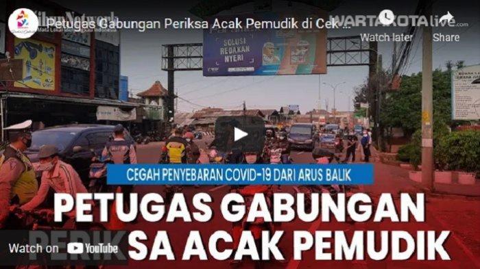 VIDEO Petugas Gabungan Periksa Acak Pemudik di Cek Poin Sasak Jarang Kota Bekasi