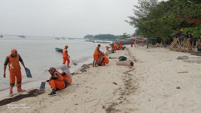Selidiki Tumpahan Minyak di Pulau Pari, Sudin LH Kepulauan Seribu Kirim Sampel ke Laboratorium