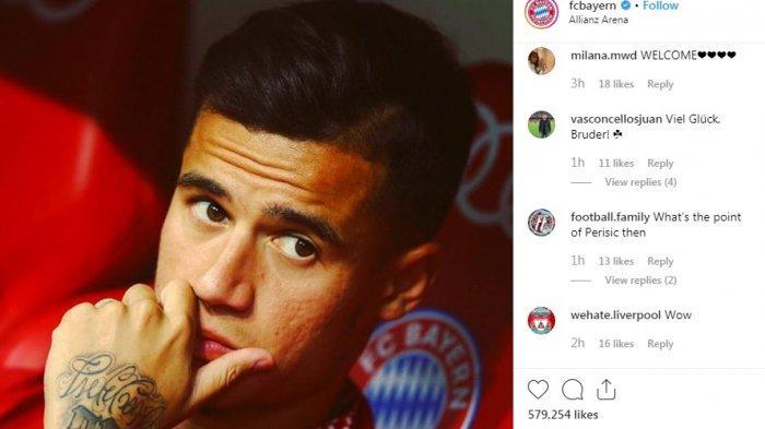Philippe Coutinho Akhirnya Dipinjamkan ke Bayern Muenchen, Besok Terbang ke Jerman