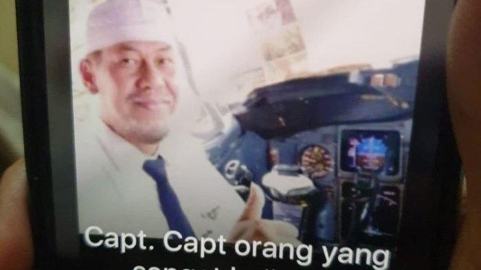 Jasad Belum Ketemu, Keluarga Pilot Sriwijaya Air Kapten Afwan Zamzami Mulai Ikhlas, Siap Tabur Bunga