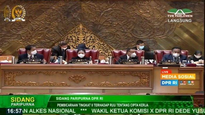 Disahkan DPR, Omnibus Law RUU Cipta Kerja Jadi Undang-Undang, Tiga Poin Ini Menuai Sorotan