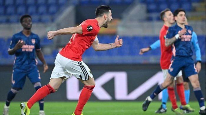 Hasil Akhir Benfica vs Arsenal 1-1,  Gol Penalti Pizzi Dibalas Gol Bukayo Saka Dua Menit Kemudian