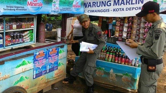 Satpol PP Depok Kembali Datangi PKL dan Bangli di Jalan Raya Bogor
