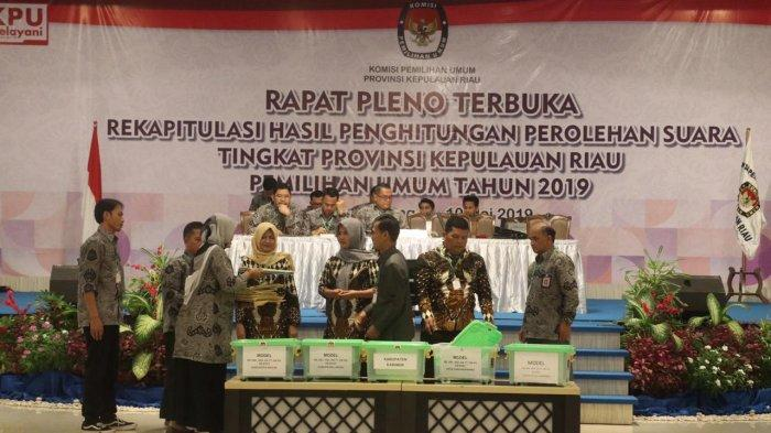 Rekapitulasi Pemilu di Provinsi Kepri, Paslon 01 Jokowi-Maruf Unggul