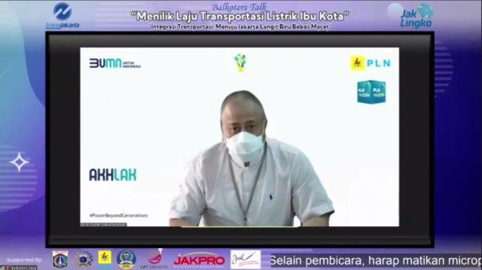 General Manager PLN Unit Induk Distribusi Jakarta Raya, Doddy B. Pangaribuan dalam acara virtual Menilik Laju Transportasi Listrik Ibu Kota pada Rabu (17/3/2021).
