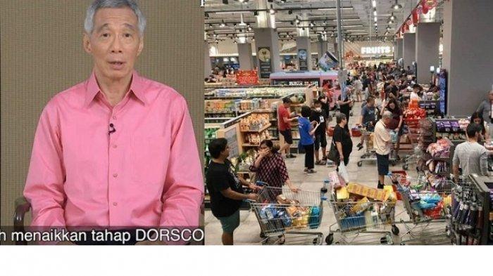 PM Singapura Soal Kepanikan Borong Barang di Supermarket: Kecemasan Lebih Bahaya dari Virus Corona