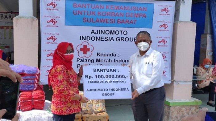 Lewat PMI, Ajinomoto Indonesia Donasi Produk Bumbu Masak bagi Korban Bencana Kalimantan dan Sulawesi