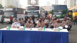 Ditlantas Polda Metro Jaya Kenakan Sanksi 1.109 Angkutan Umum dan Barang yang Langgar PPKM Darurat