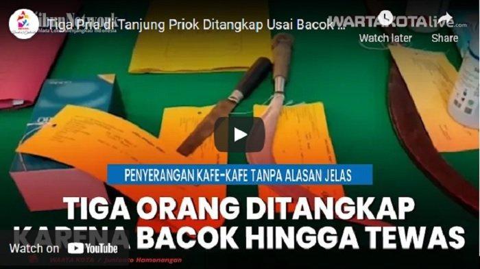 VIDEO Polisi Tangkap 3 Pria Tersangka Pembacokan yang Menewaskan Hanapi di Tanjung Priok