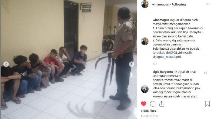 Tawuran Antar Remaja Marak di Depok Pada Dini Hari, Polisi Tangkap Beberapa Pelaku