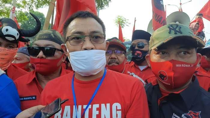 Polres Tangsel Apresiasi DPC PDI Perjuangan Kota Tangsel Gelar Aksi Demo Terkait Pembakaran Bendera