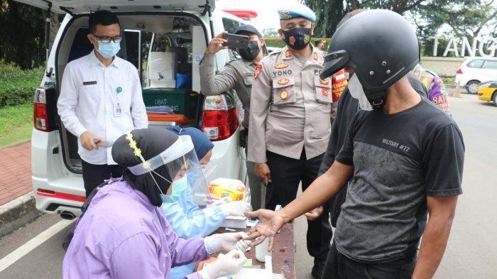 Polresta Tangerang Gelar Operasi Yustisi, Dua Pelanggar Reaktif Covid-19