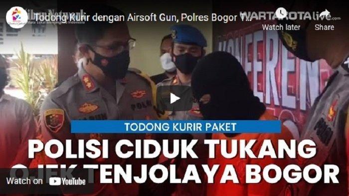 VIDEO Todong Kurir dengan Airsoft Gun, Polres Bogor Tangkap Tukang Ojek di Tenjolaya Bogor