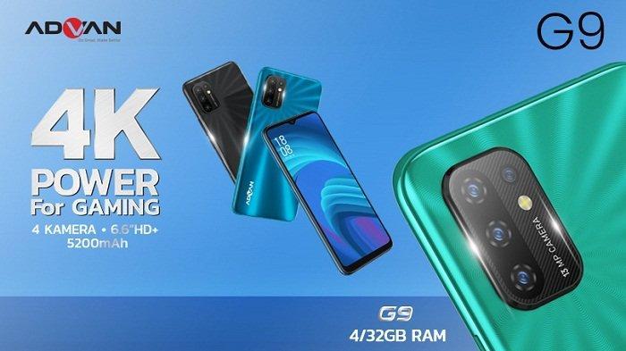 Harga Rp 1,4 Juta, Ponsel Gaming Advan G9 RAM 4 GB, Layar Lebar, Baterai Jumbo, Ini Spesifikasinya